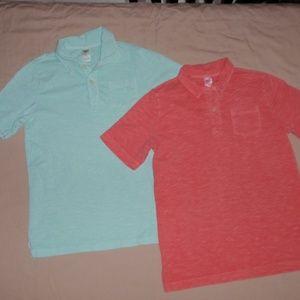 2 Boys OshKosh Polo Style Shirts Tops Sz 12